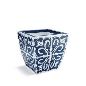 Santorini Painted Planter 19""