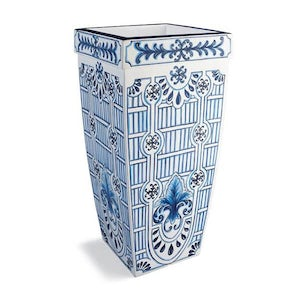 Santorini Painted Planter 36""
