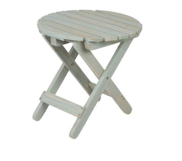 Folding round table in Dutch Blue