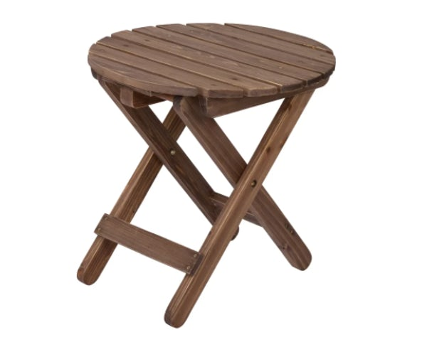 Folding Round Table- Rustic Wine