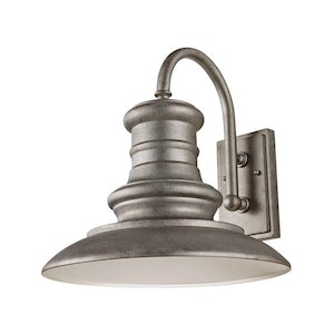 Redding Station Wall Sconce- tarnished silver