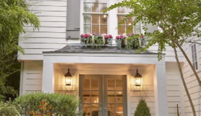 off White House with French grey shutters