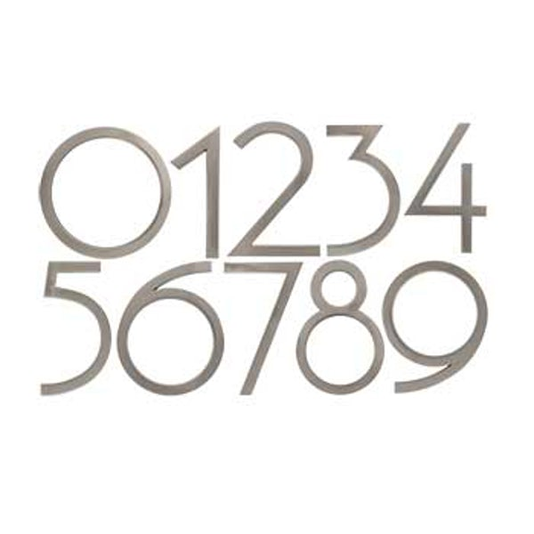 Avalon house numbers satin nickel