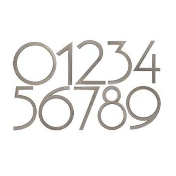 Avalon house numbers satin nickel