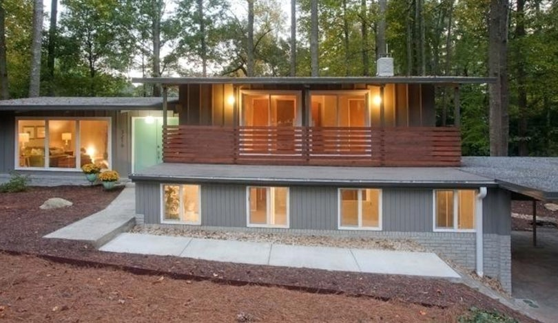 fiber cement on midcentury modern