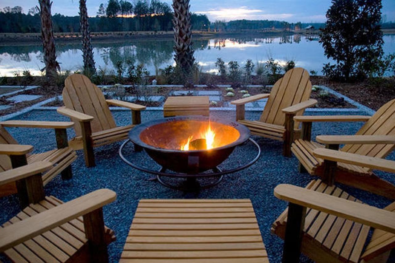 fire pit lakeside
