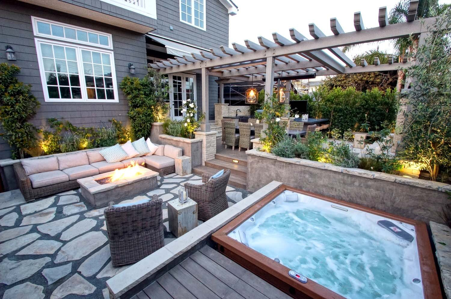 Fire pit backyard for entertainment