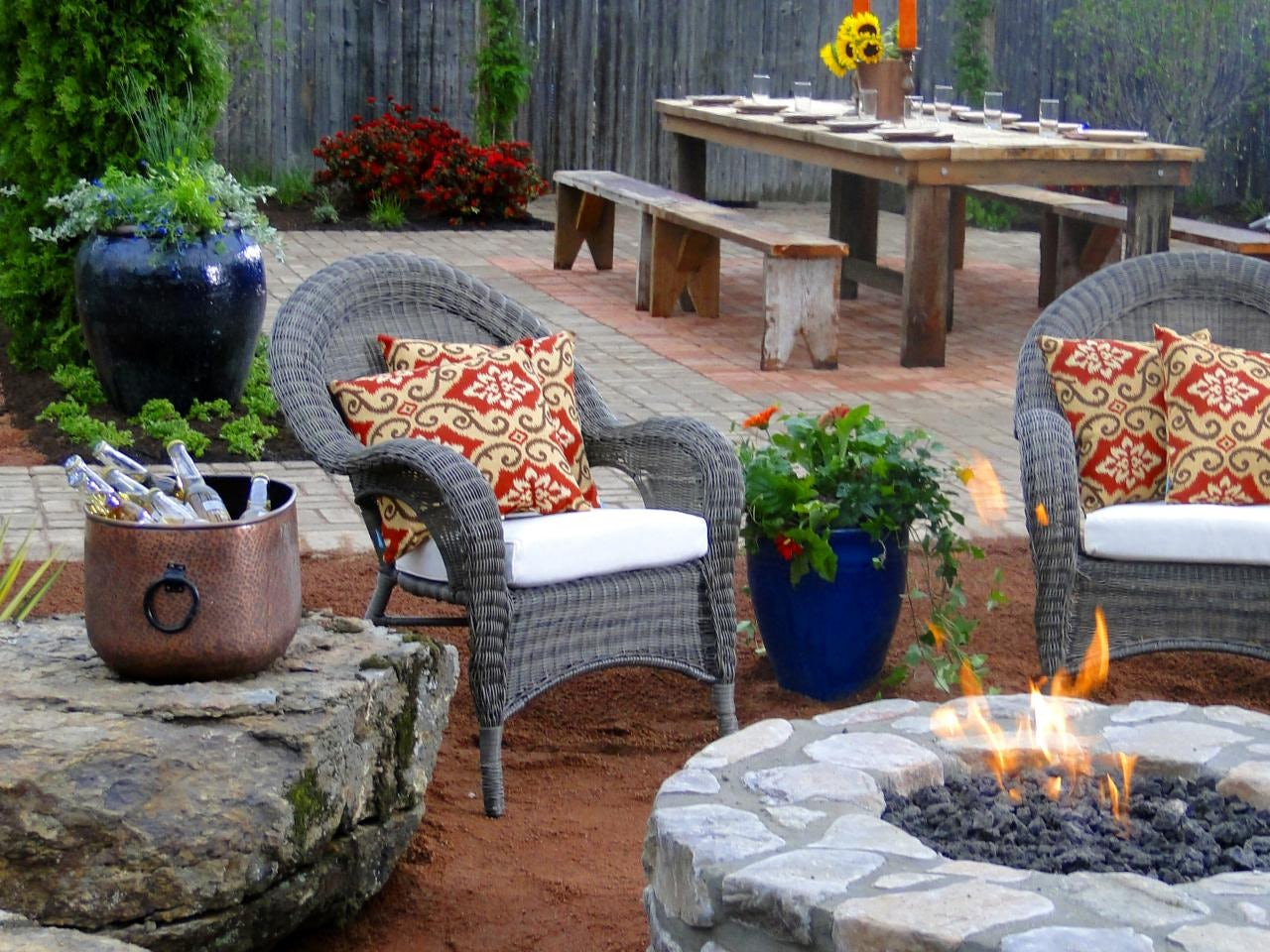 comfy stone fire pit
