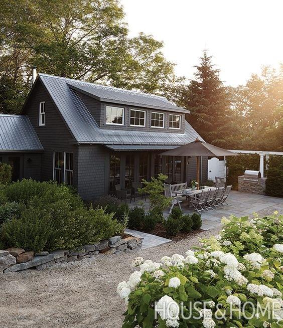 Black home exterior