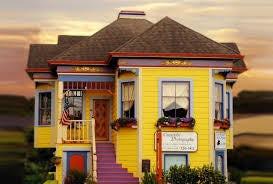 bright yellow home