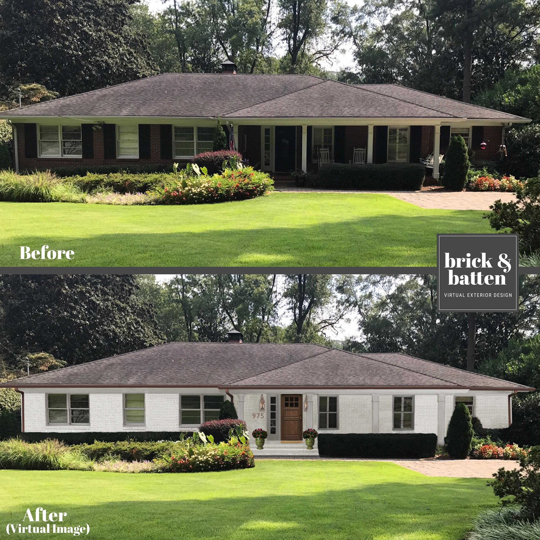 RANCH Homes Before & After Makeover   Blog   brick&batten