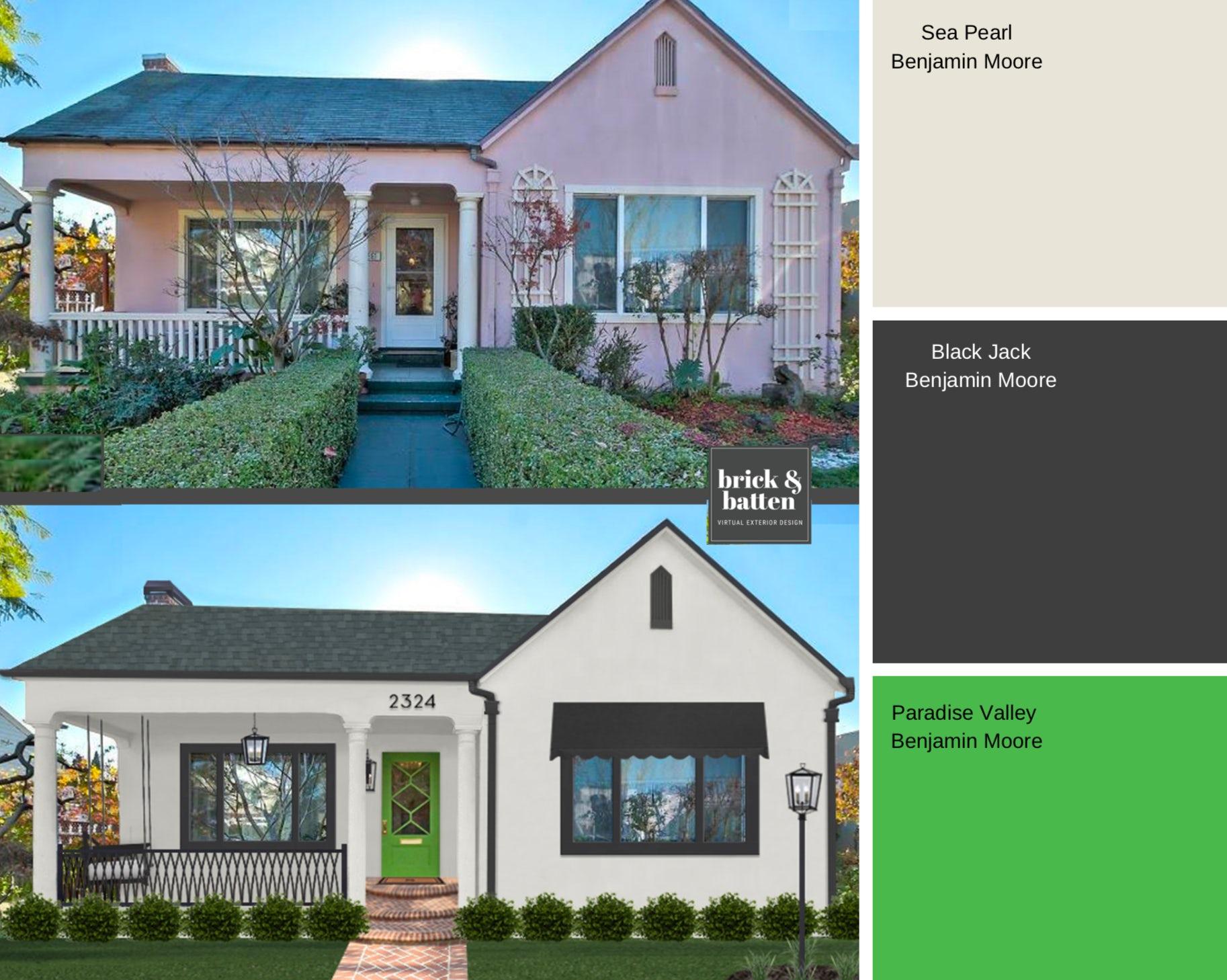 light blue gray exterior house paint