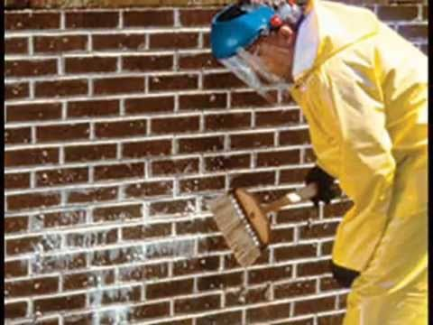 cleaning brick with wire brush