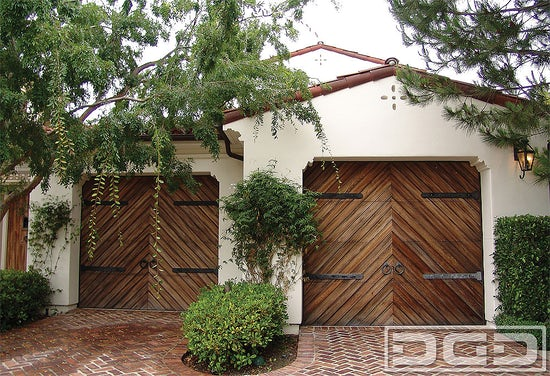 Spanish colonial garage door