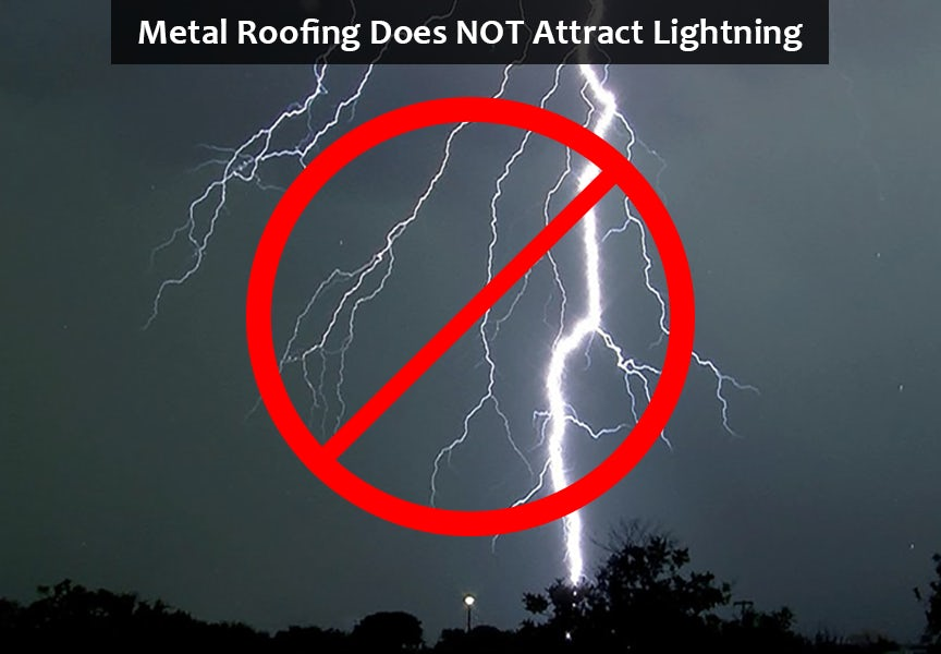 metal roof does not attract lightning