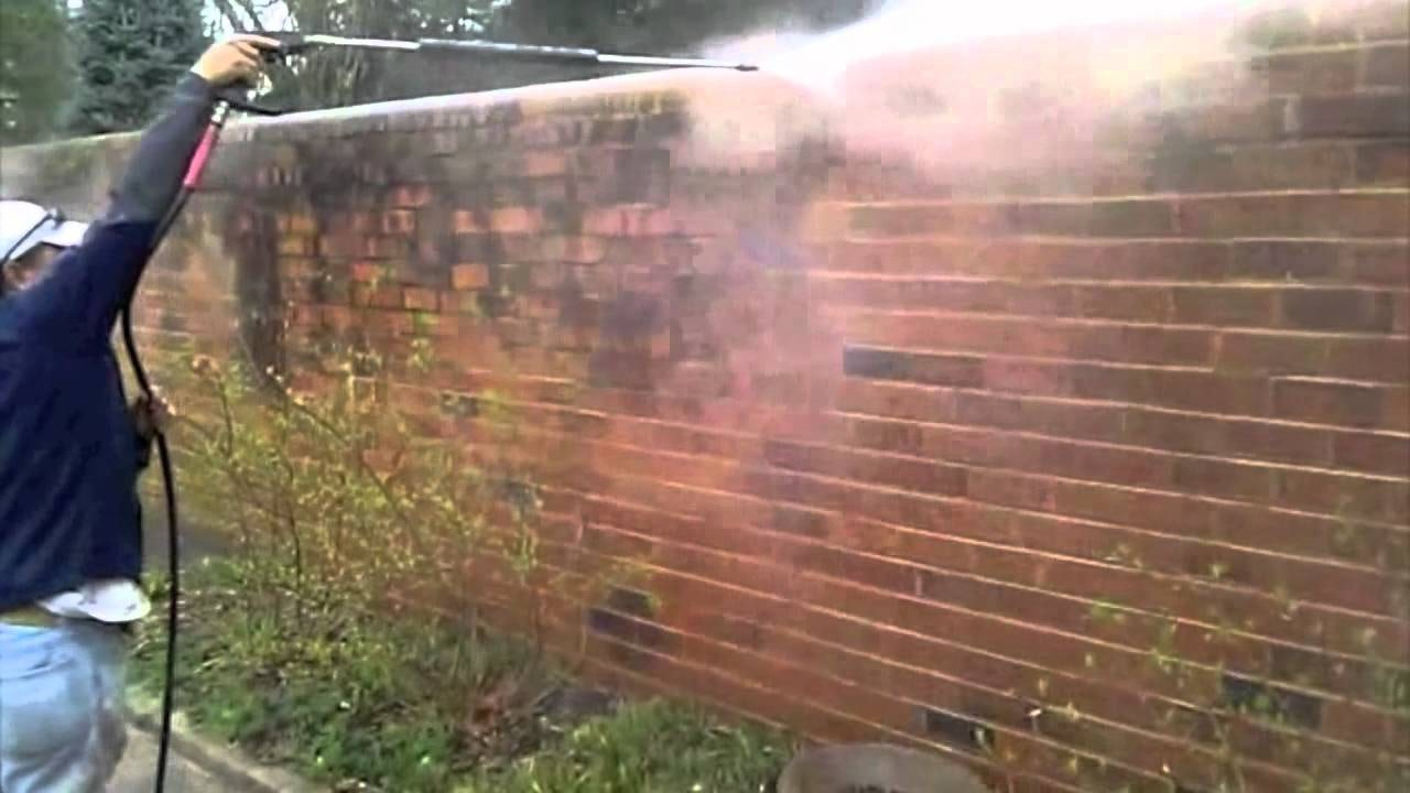 power washing brick