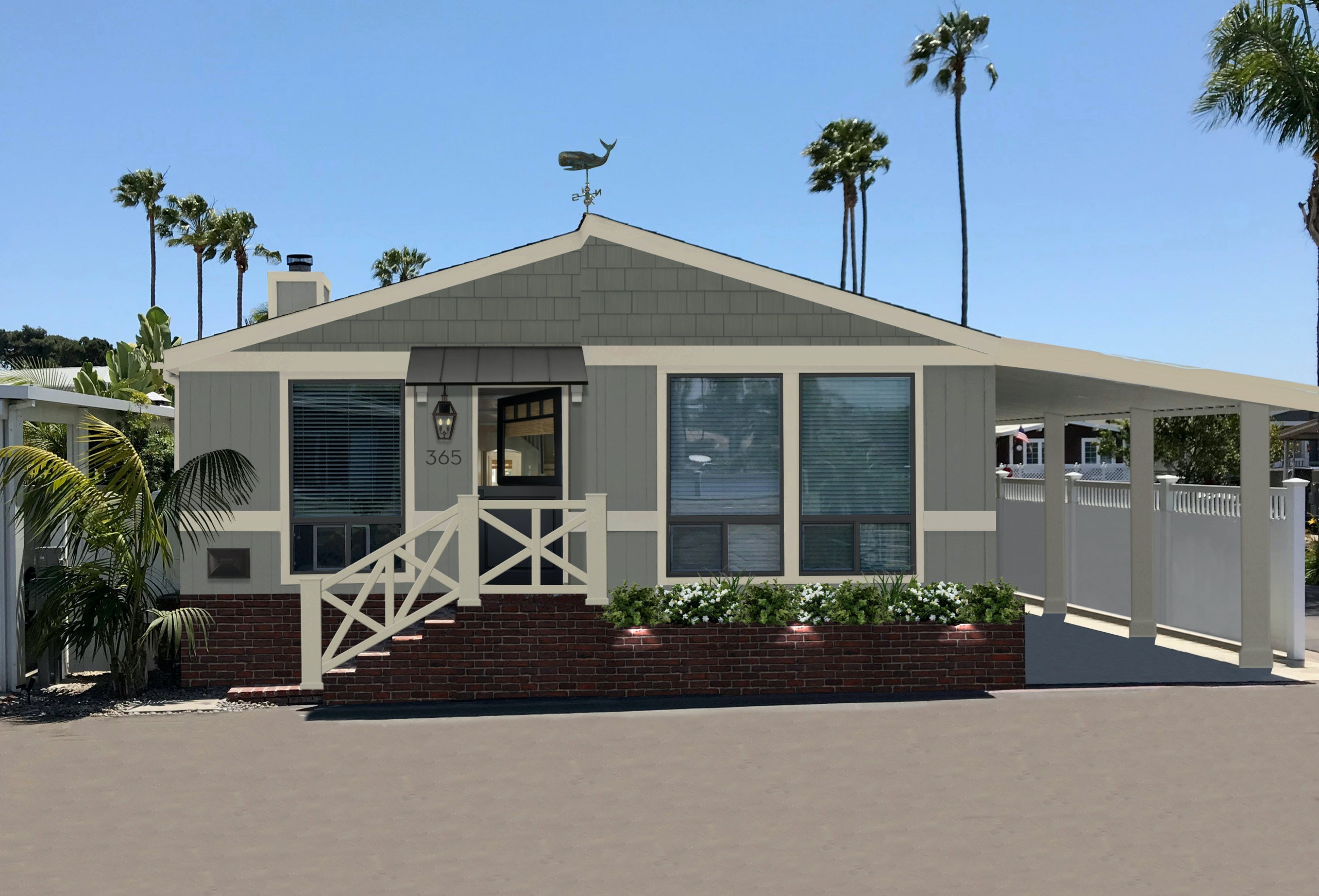 Newport Beach bungalow with Dutch door