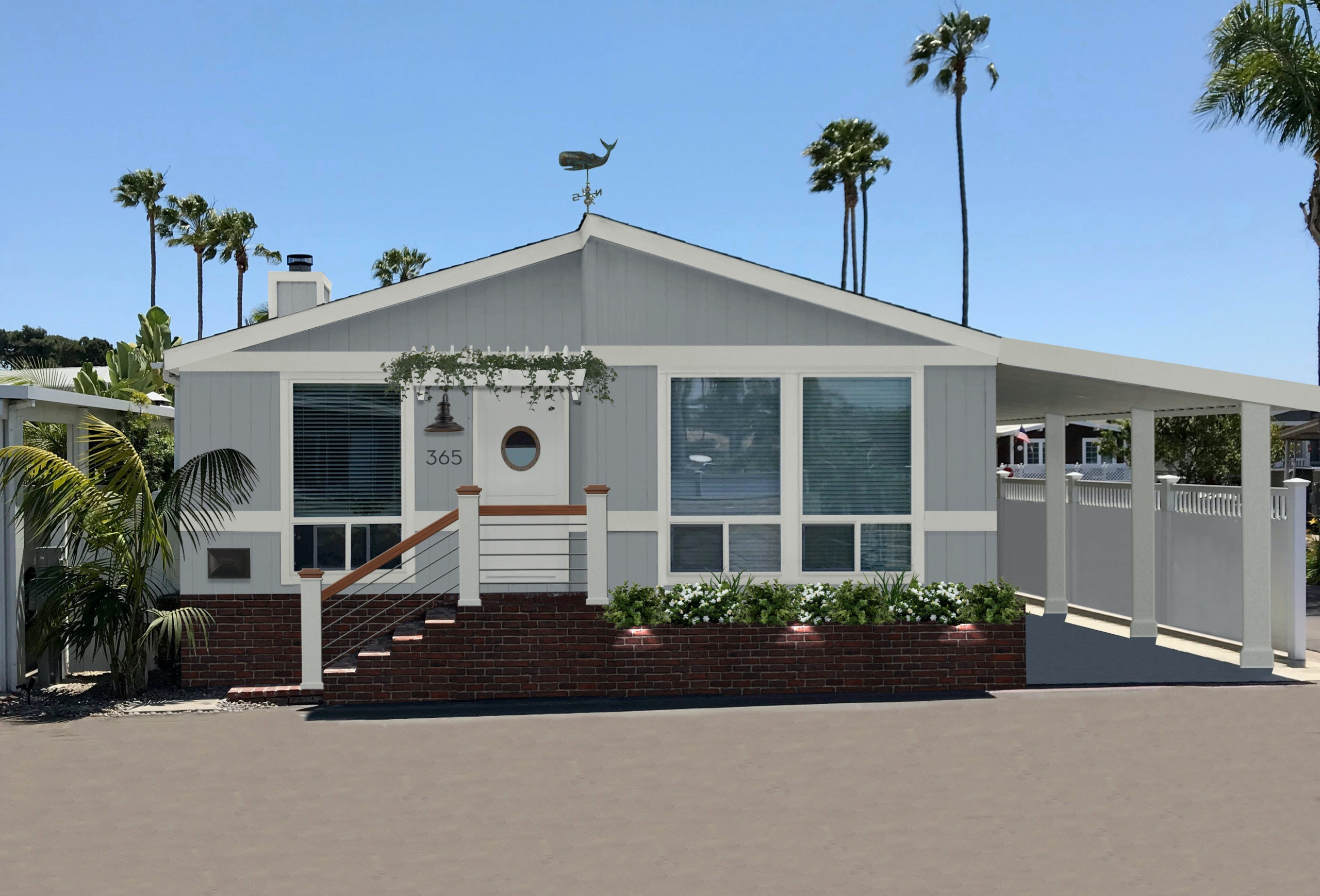 Newport Beach bungalow with porthole door