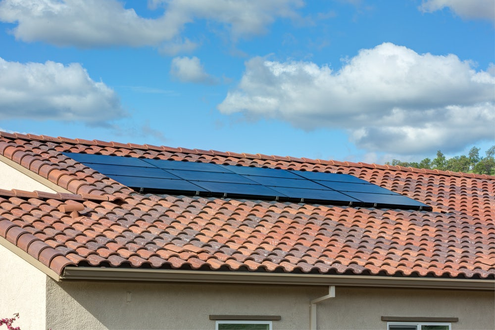 solar power on tile roof