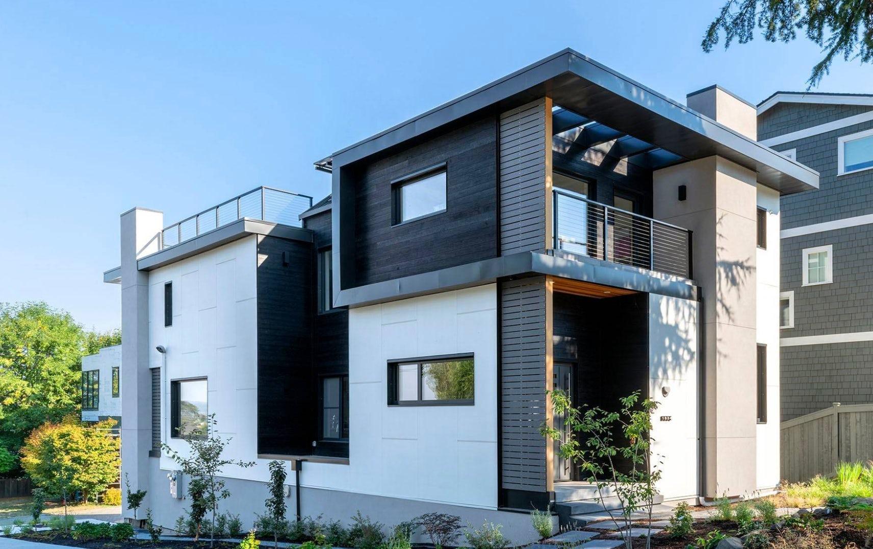 Shou Sugi Ban contemporary home James Hardie