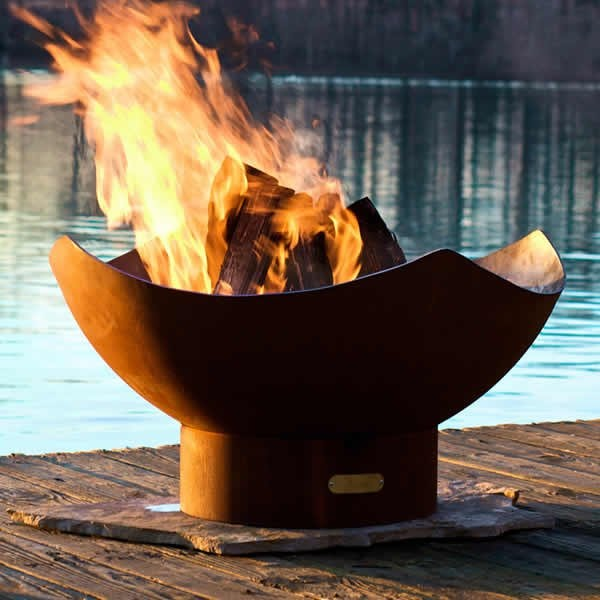 Manta Ray wood fire pit