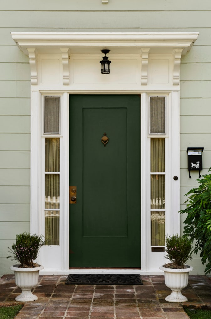 color door with white sidelights