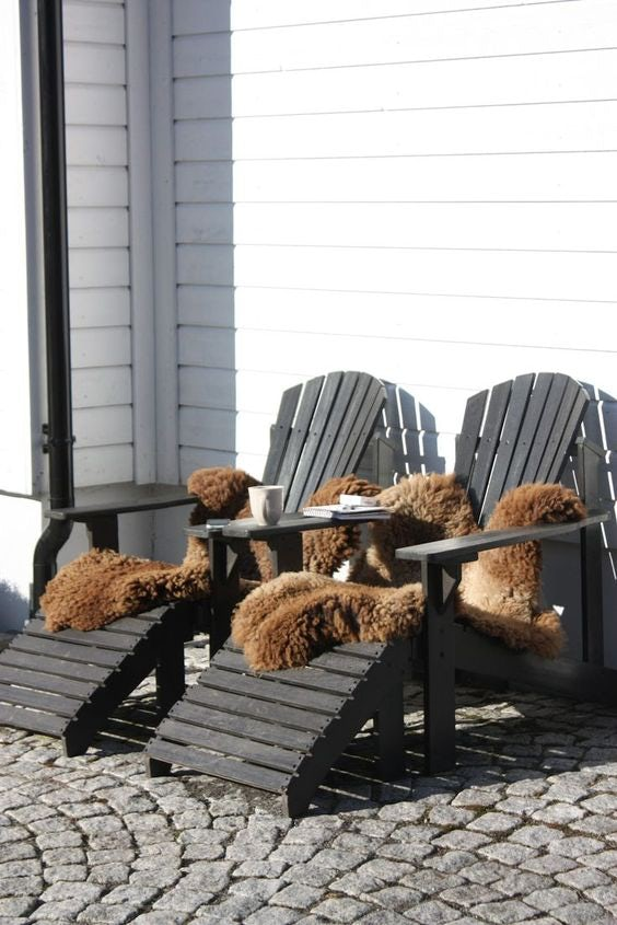 cozy adirondack chairs