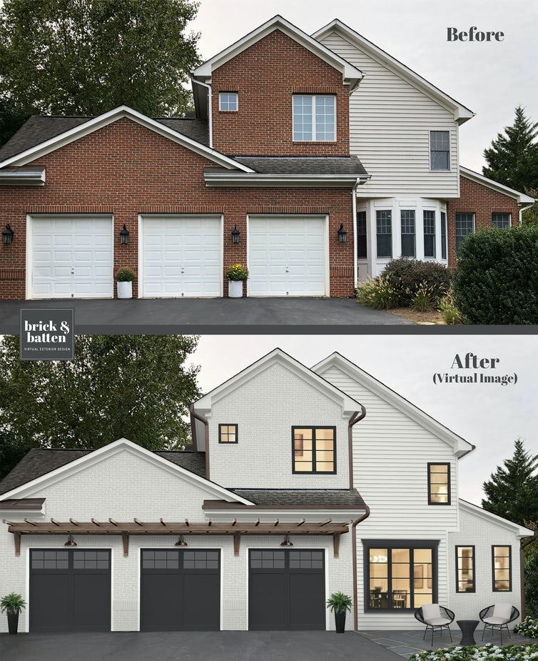Onyx garage and painted brick