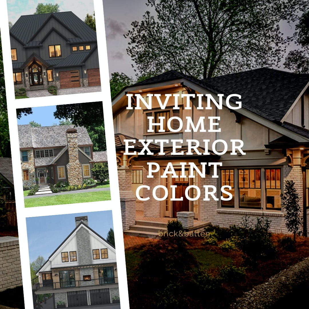 Inviting Home Exterior Paint Colors Blog Brick Batten
