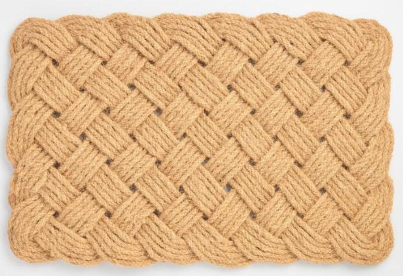 Natural Rope Knot Doormat