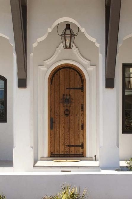 Spanish mediterranean old style door