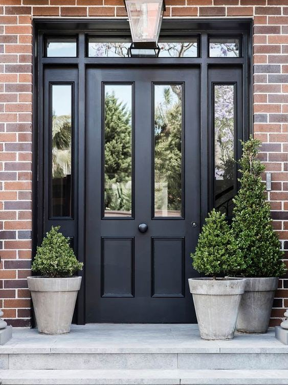 Front Door Ideas With Sidelights And