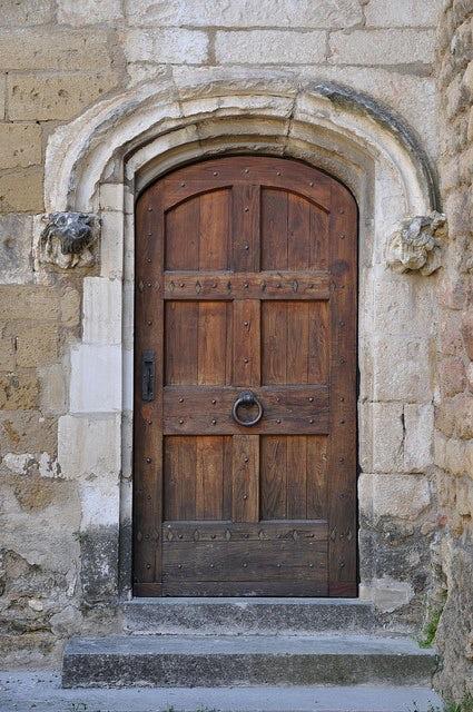 old world door