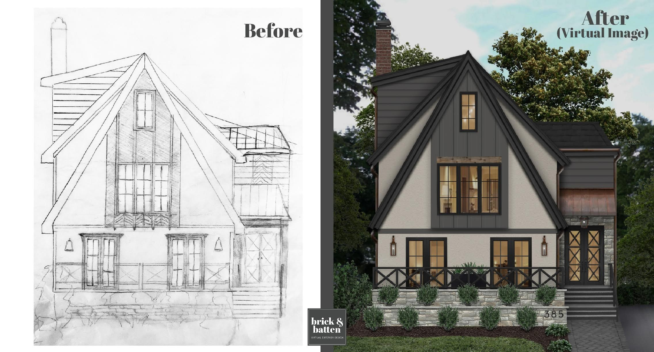 turn your home sketch into a realistic rendering