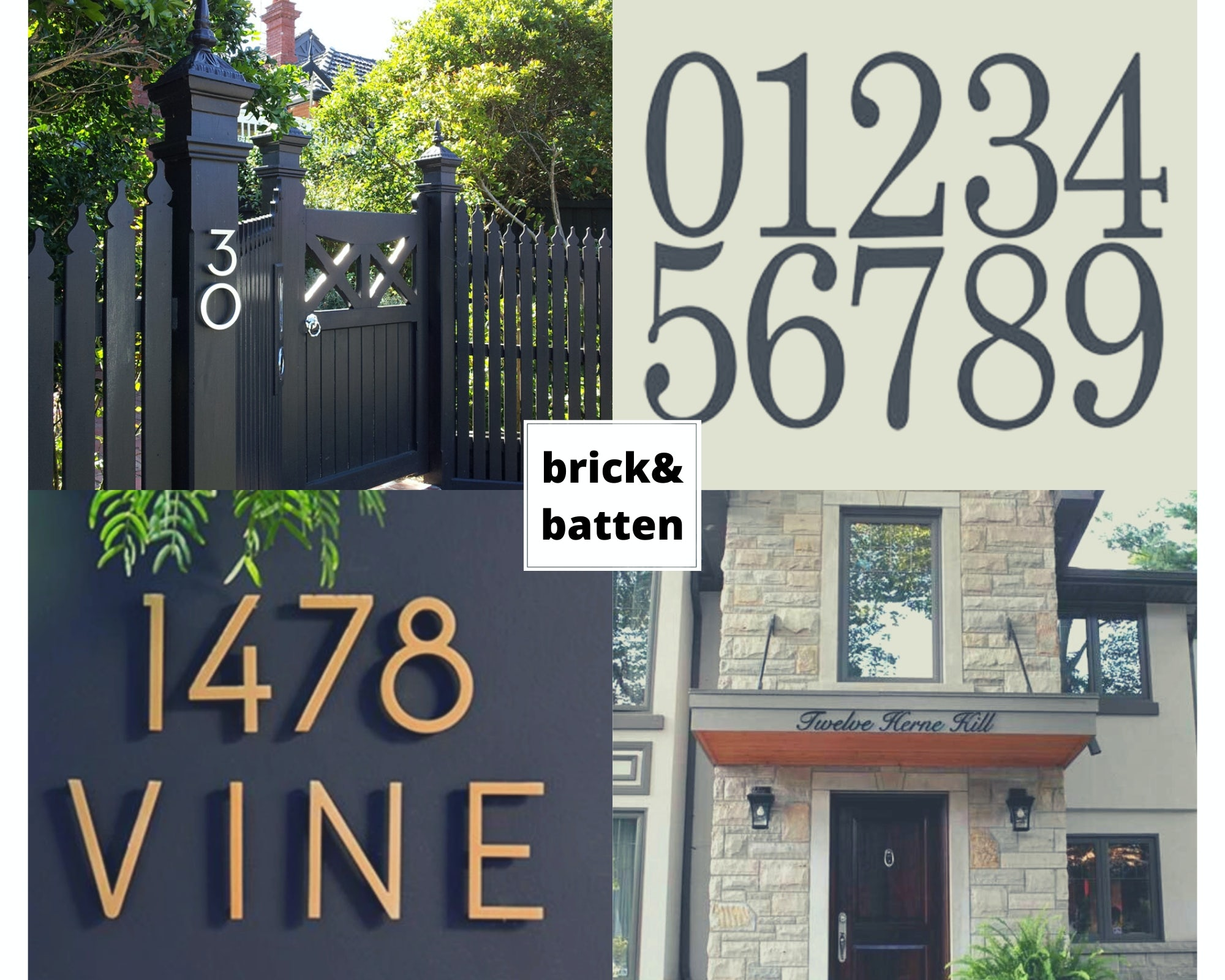 Traditional Home Numbers