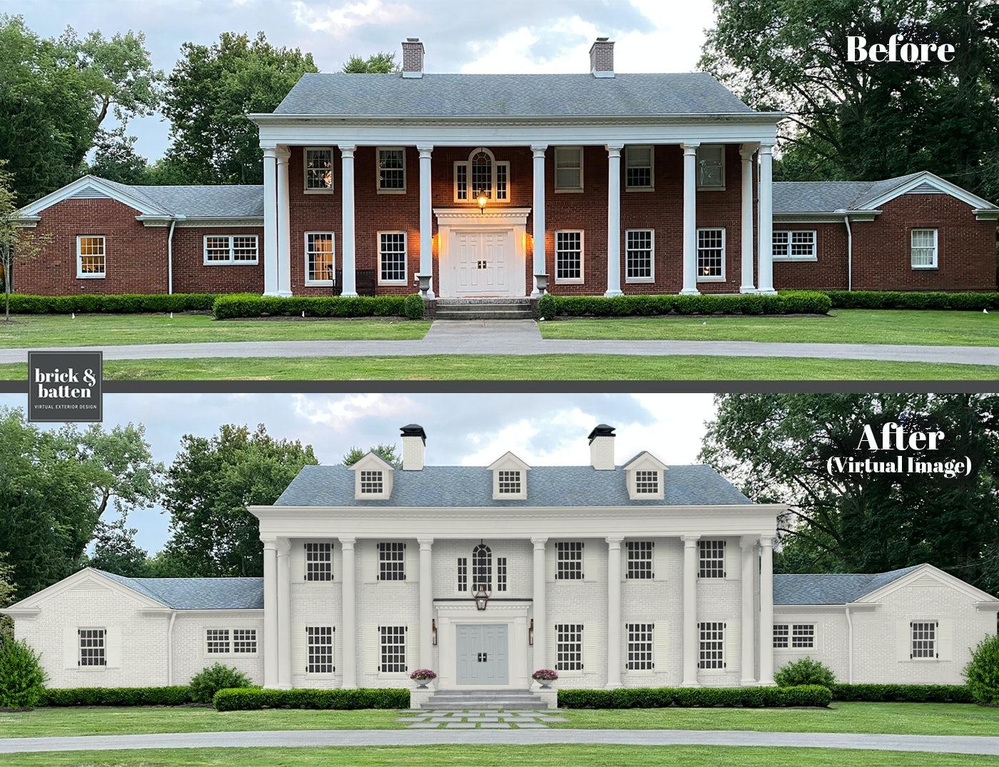 traditional house monochromatic design