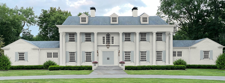 Boothbay Gray Benjamin Moore shutters and door