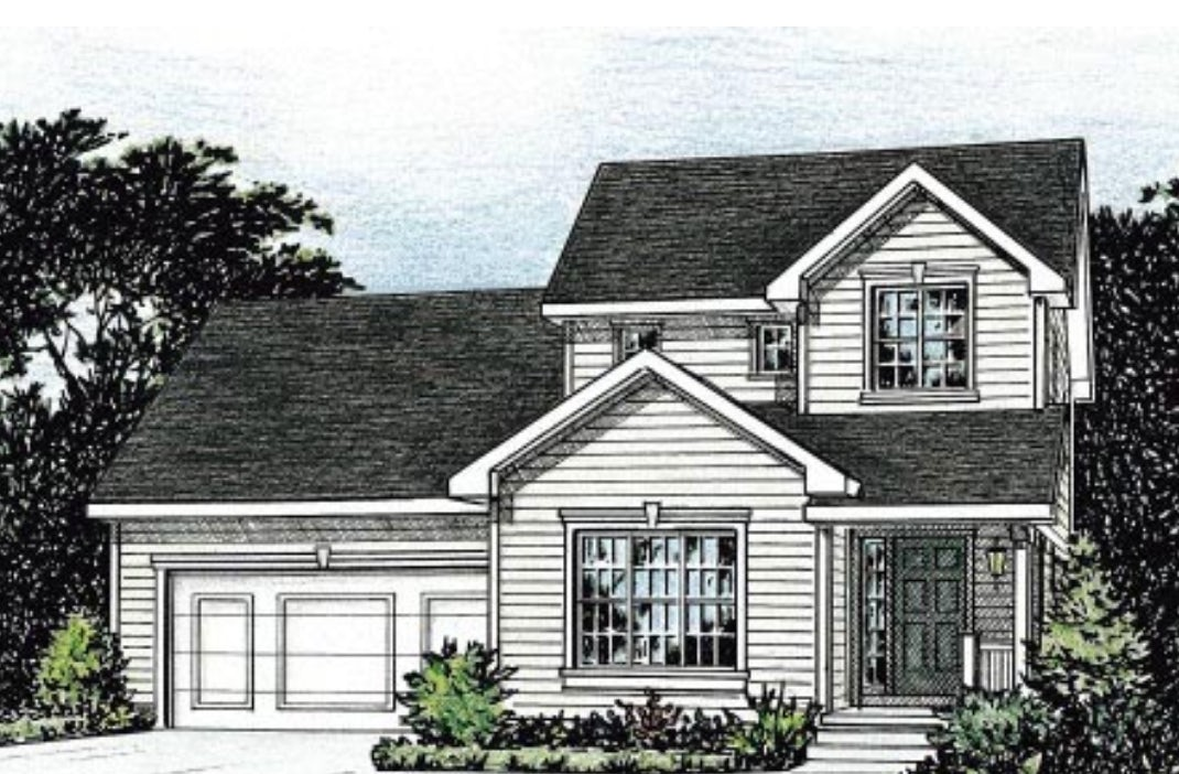 A blueprint of a traditional home by Family House Plans