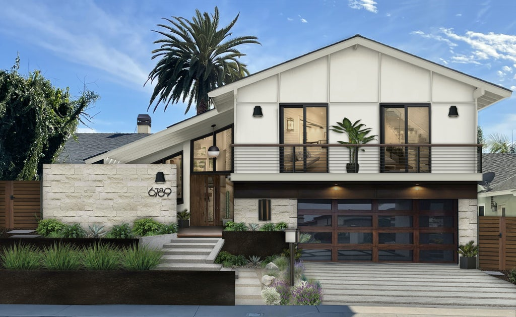 Virtual exterior design of a home with modern architecture and style