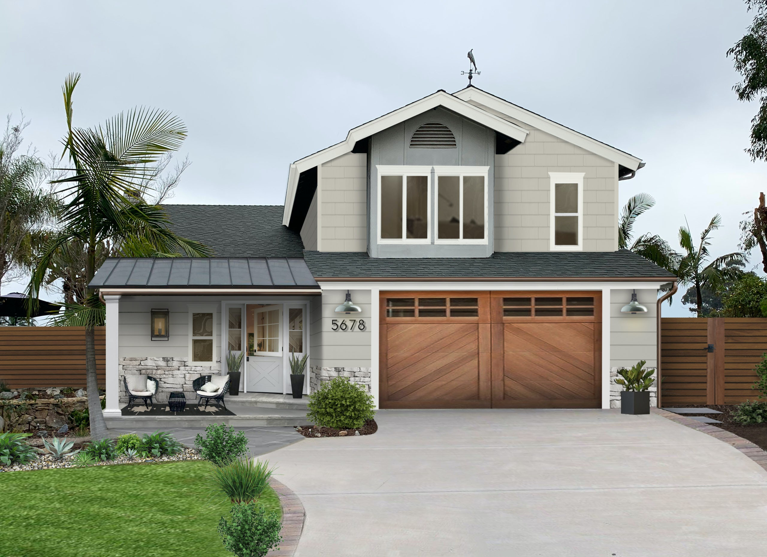 A home painted Sandy Hook Gray