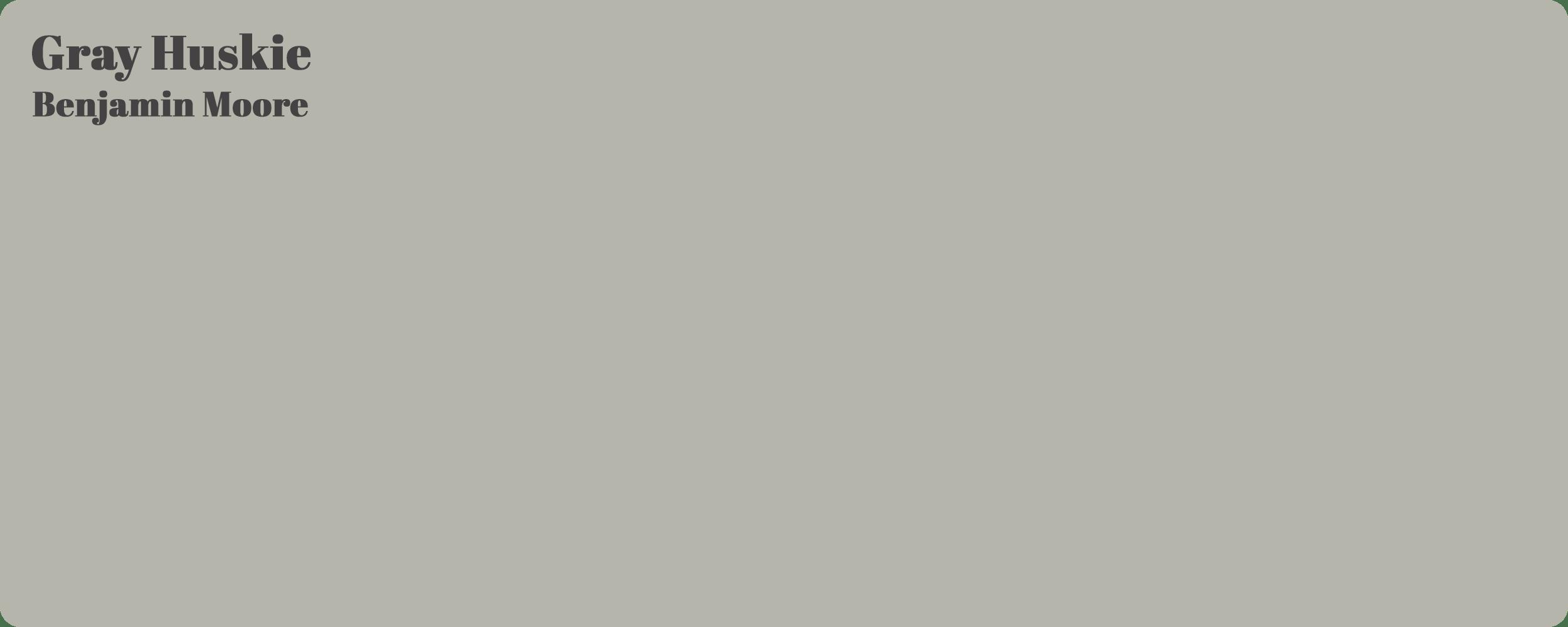 Gray Huskie