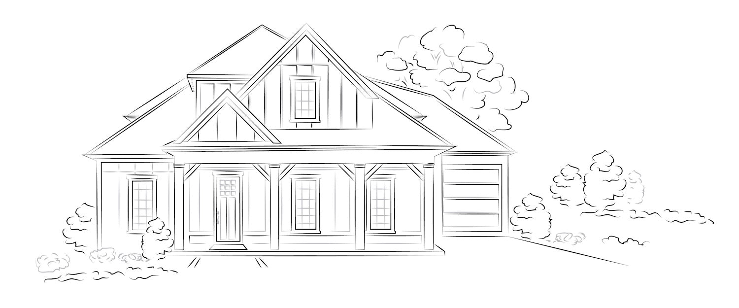 A blueprint plan by The Small House Catalog