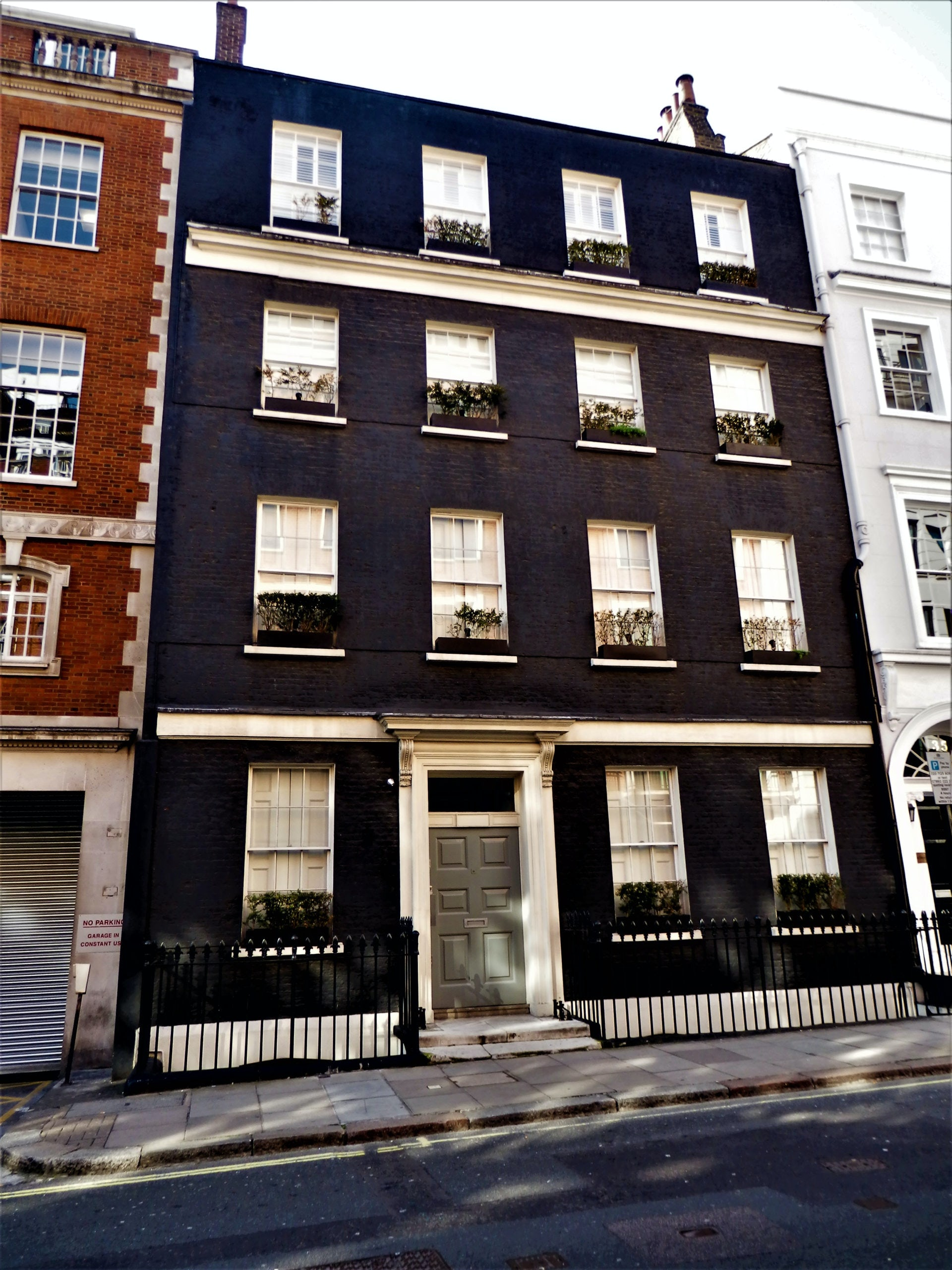 Black painted townhouse