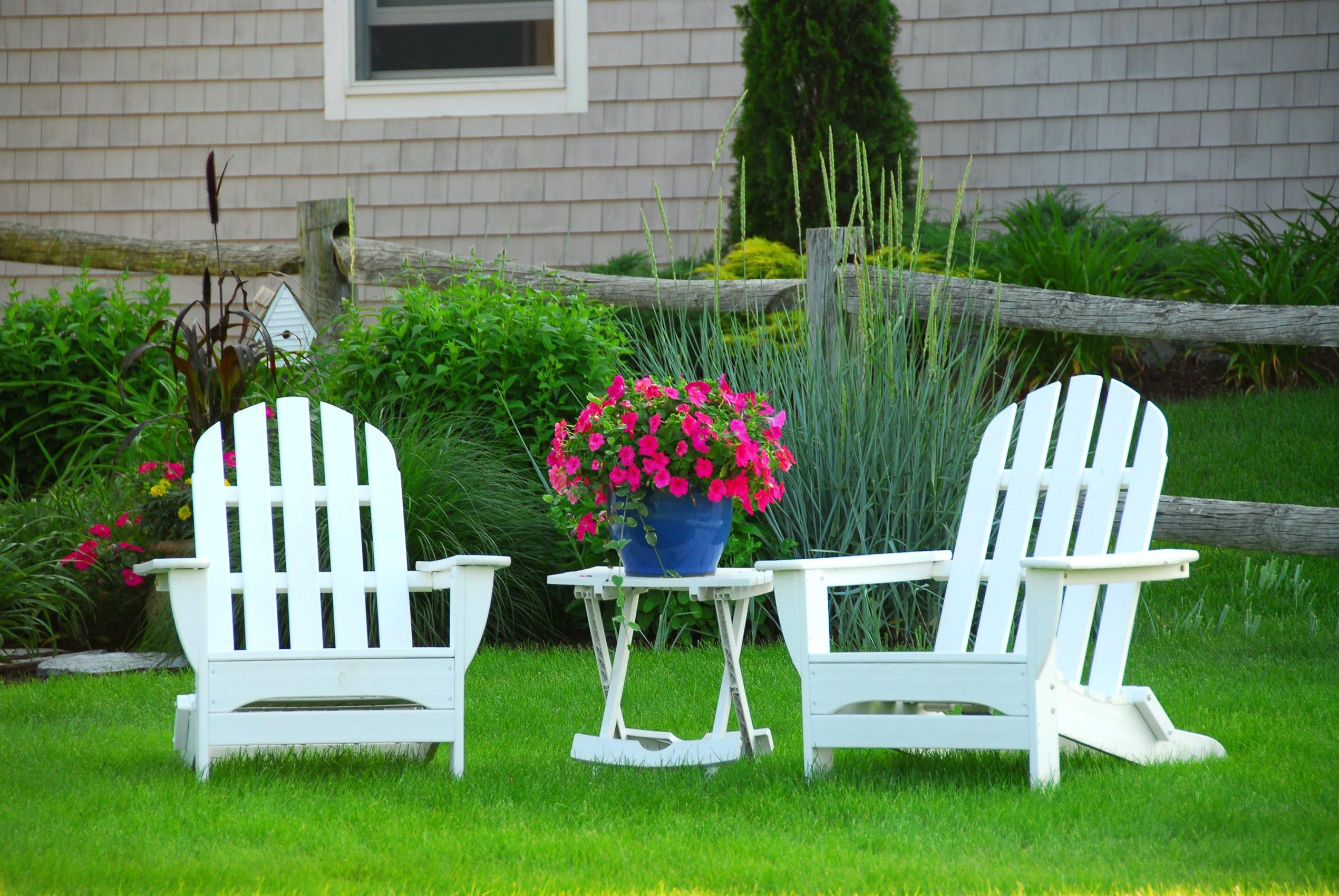 cozy adirondack chairs