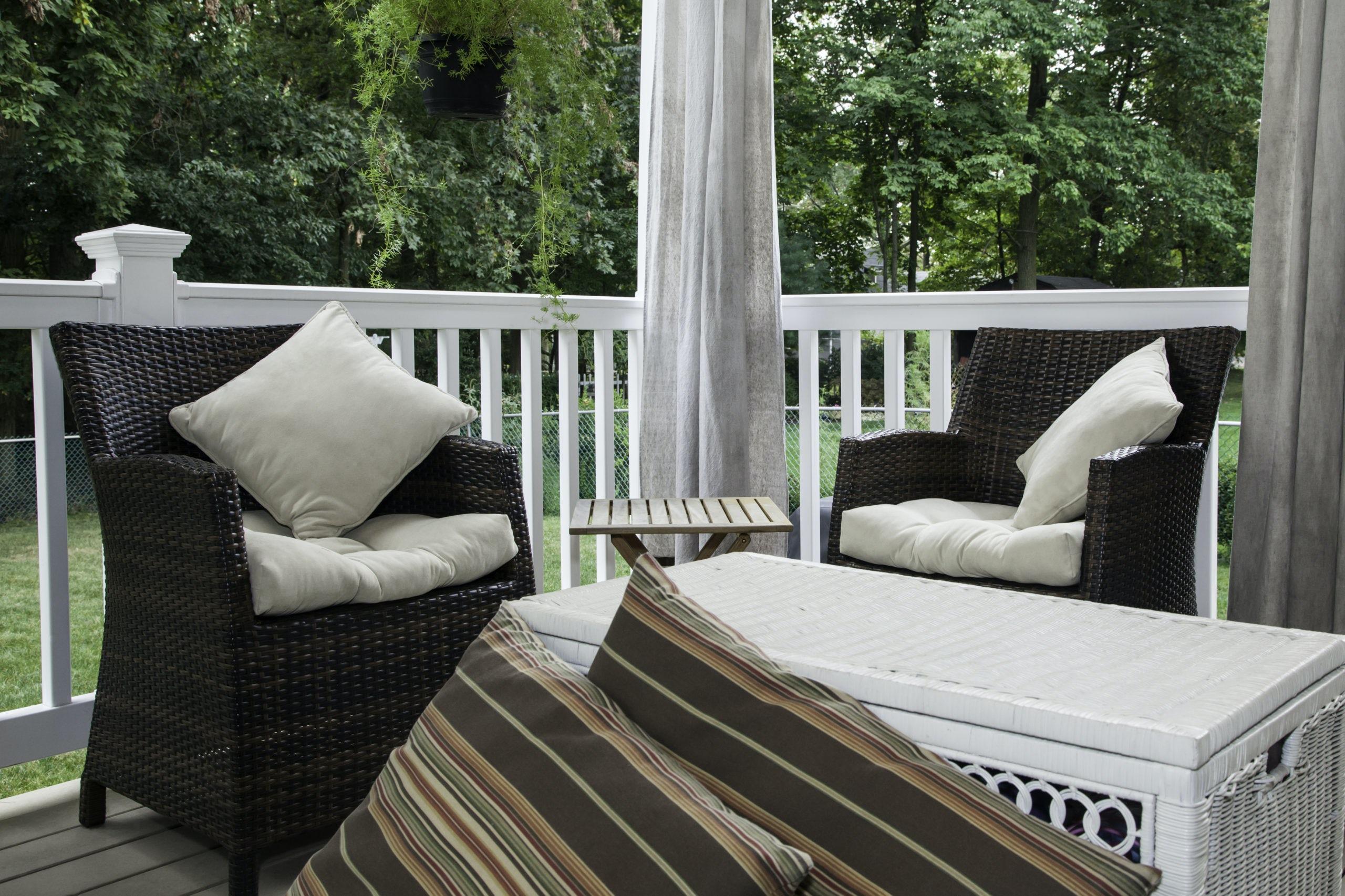 Ballard Sunbrella porch curtains