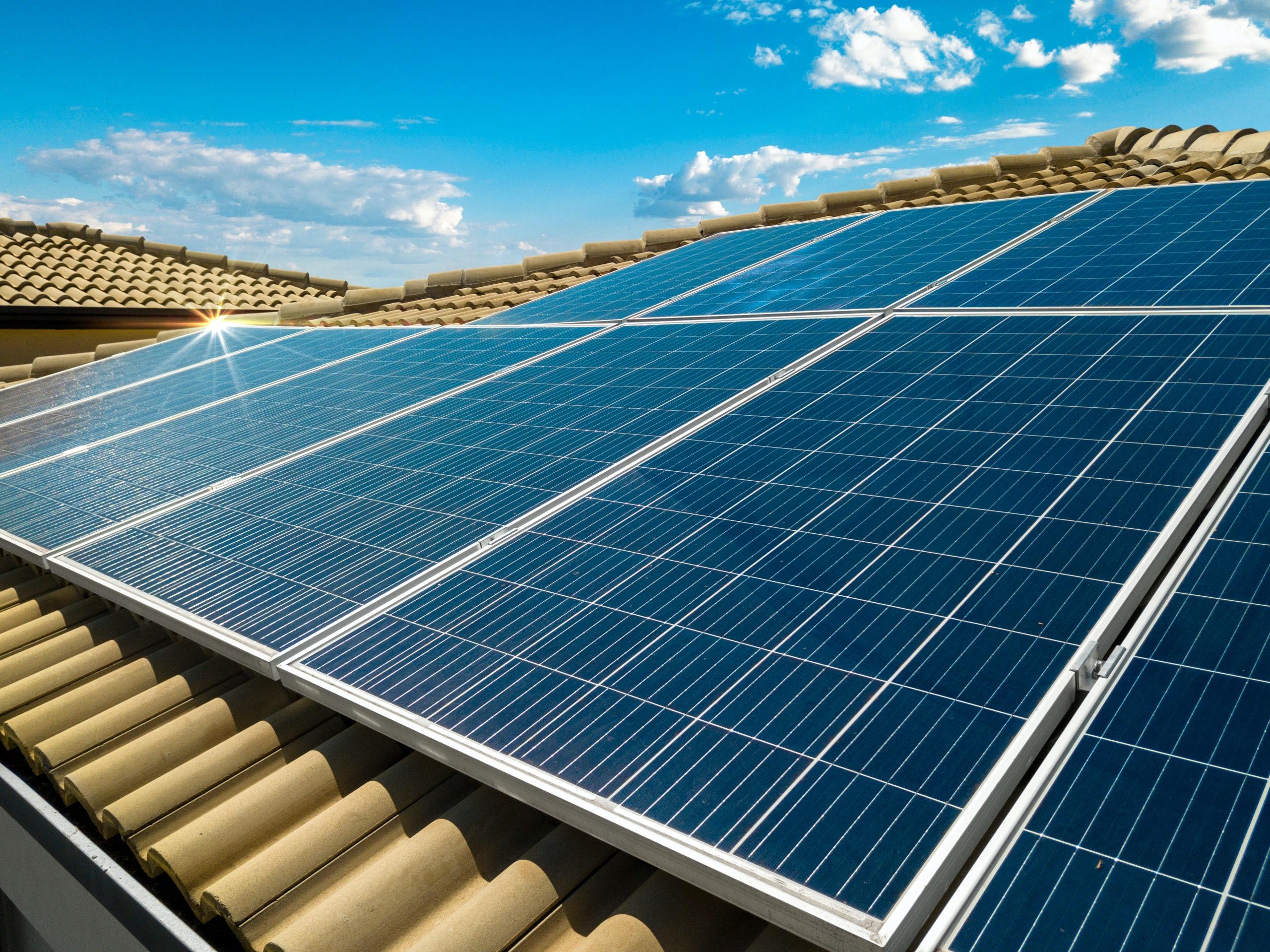 solar power on tile roof