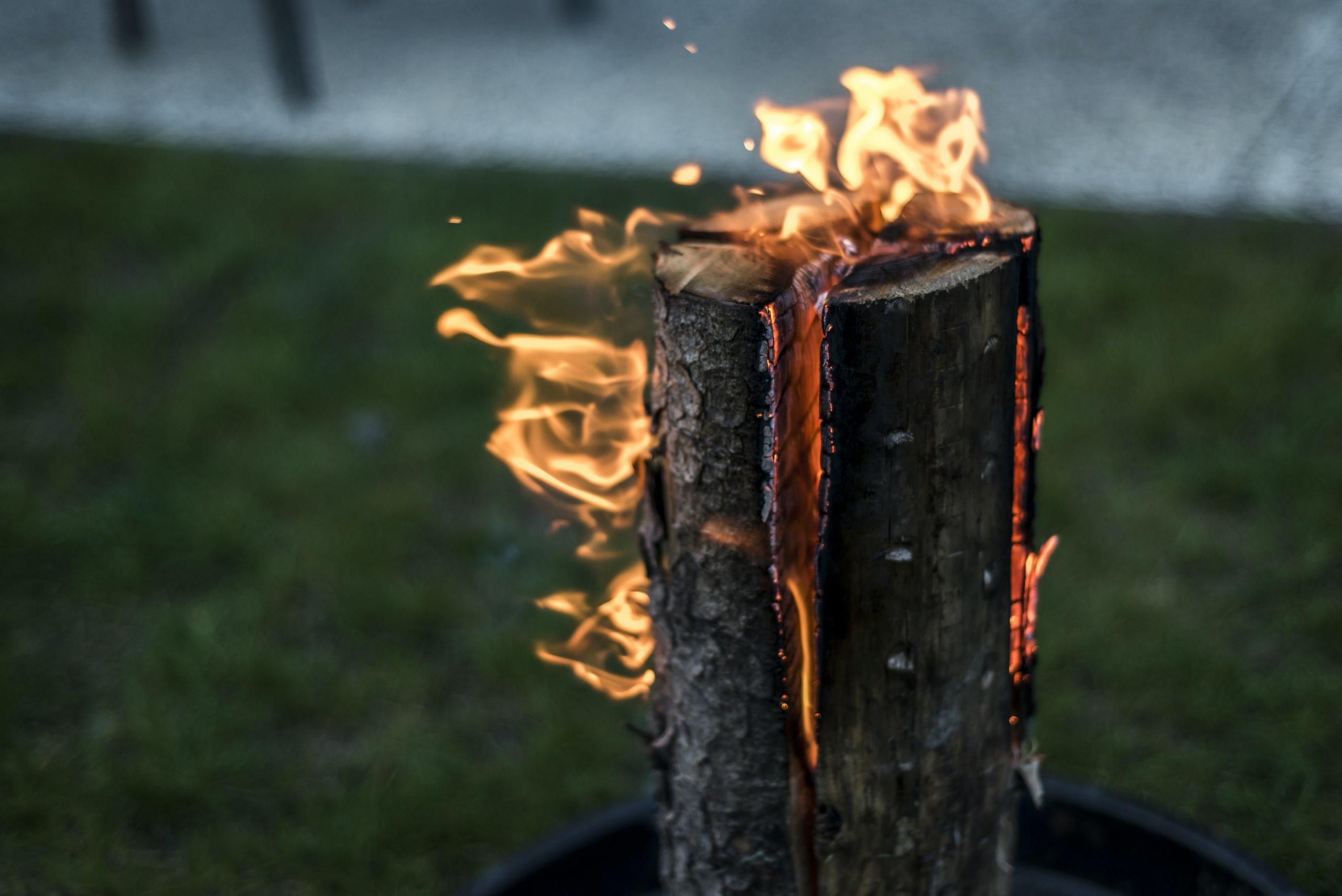 Manta Ray wood fire pit