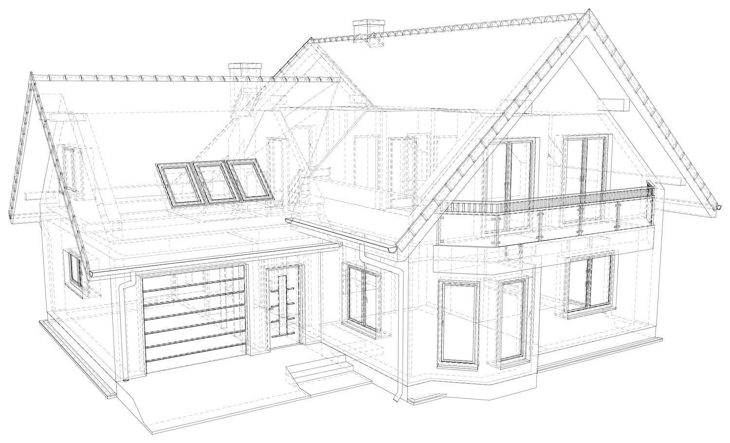 A Blueprint by Dream Home Source with large porch