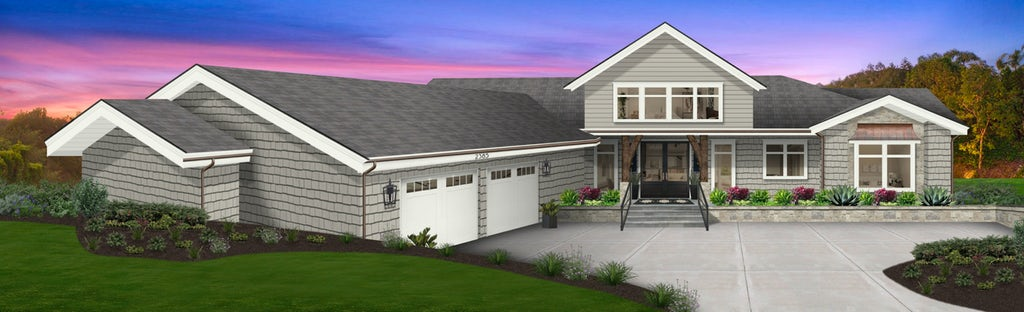Virtual exterior design of a home painted in Thunder by Benjamin Moore