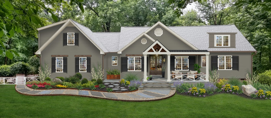 Virtual exterior design of a home painted in Anonymous by Sherwin Williams